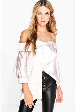 Phoebe Silky Shoulder Strappy Blouse