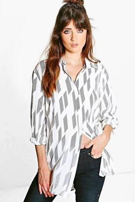 Gracie Broken Stripe Oversized Shirt