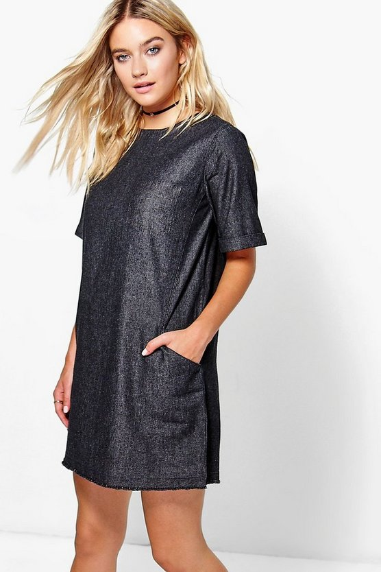Lois Slouch Pocket Denim Dress