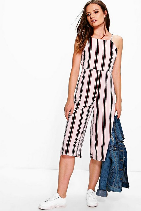 Jonna Striped Culotte Style Jumpsuit