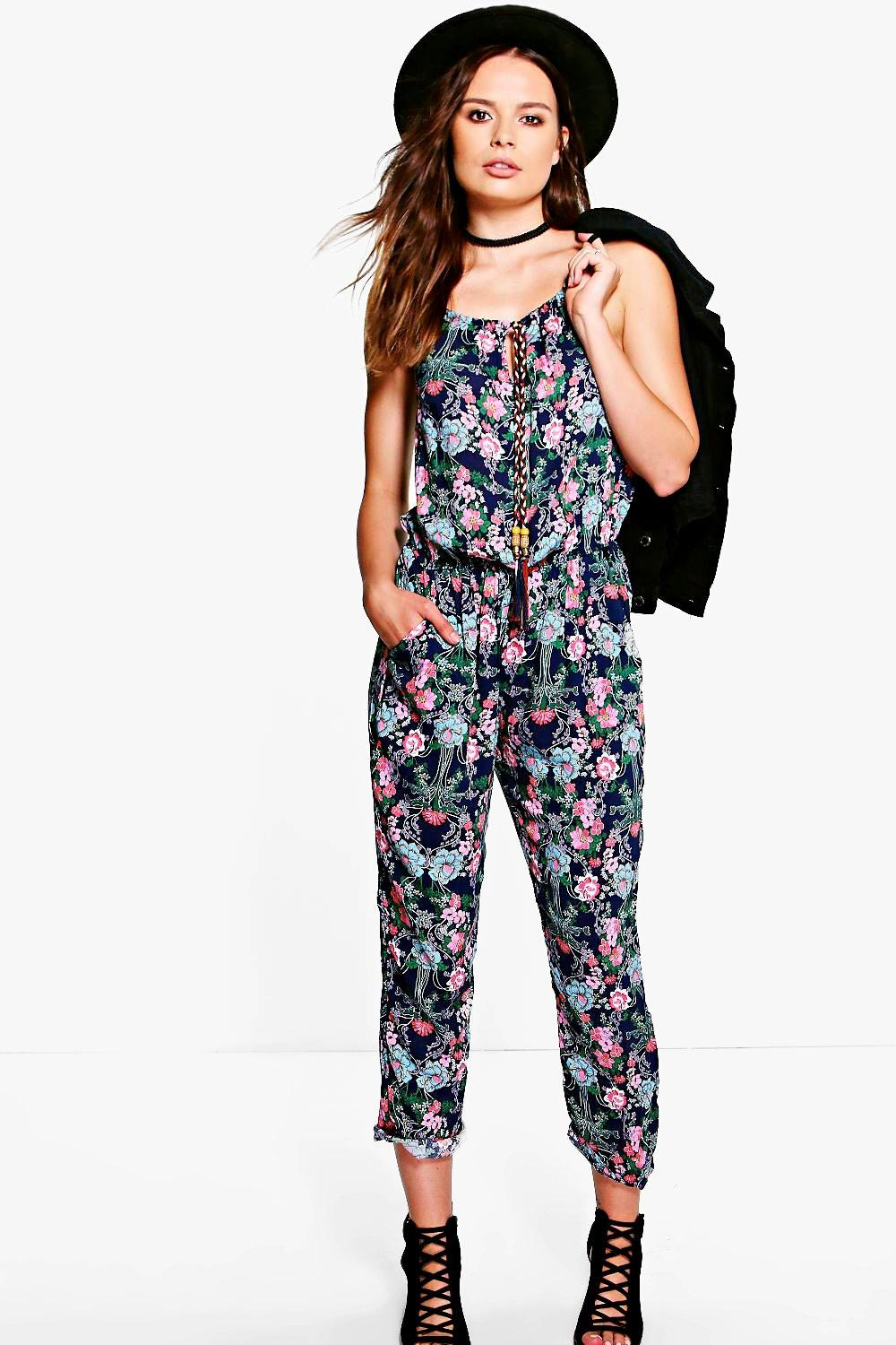 Heather Floral Print Jumpsuit