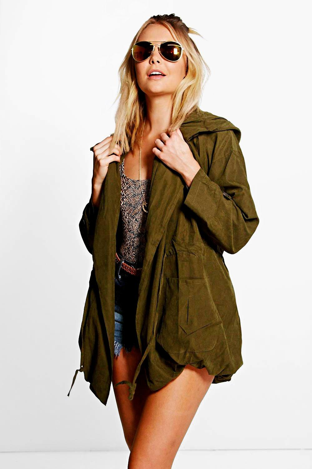 Leah Hooded Festival Utility Jacket