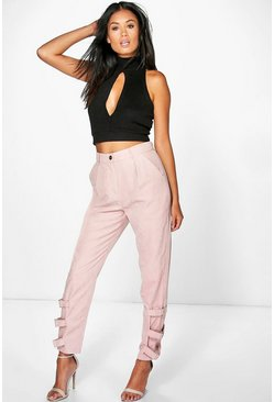 Nysa Buckle Ankle Soft Touch Utility Trousers