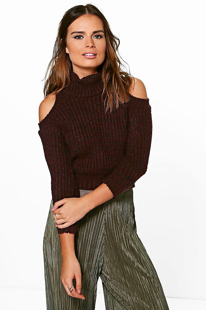 Erin Marl Roll Neck Soft Knit Jumper