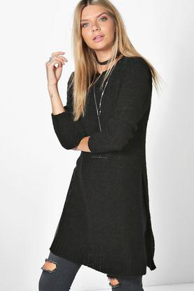 Maisie Boucle Side Split Tunic