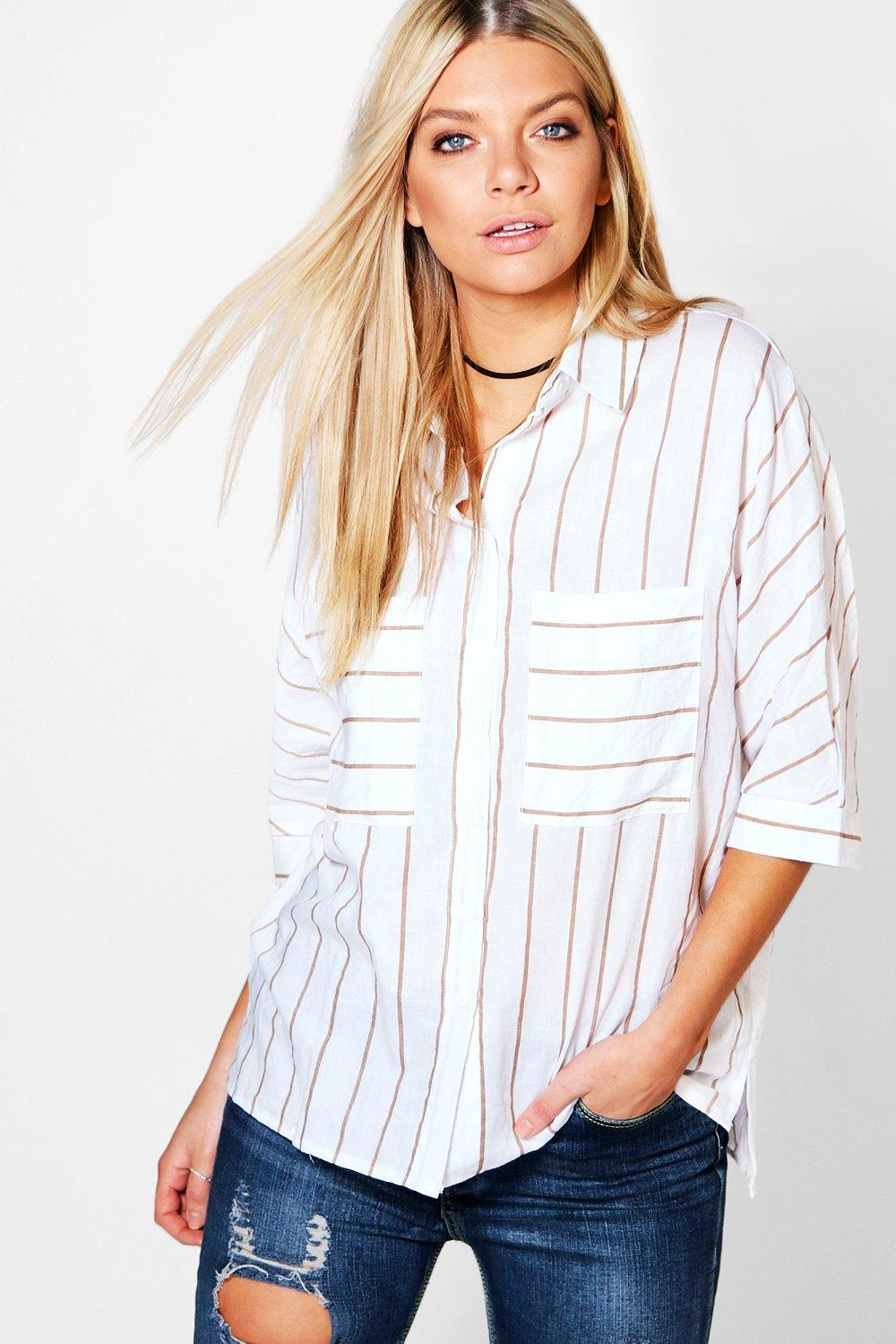 Anna Pocket Detail Striped Shirt