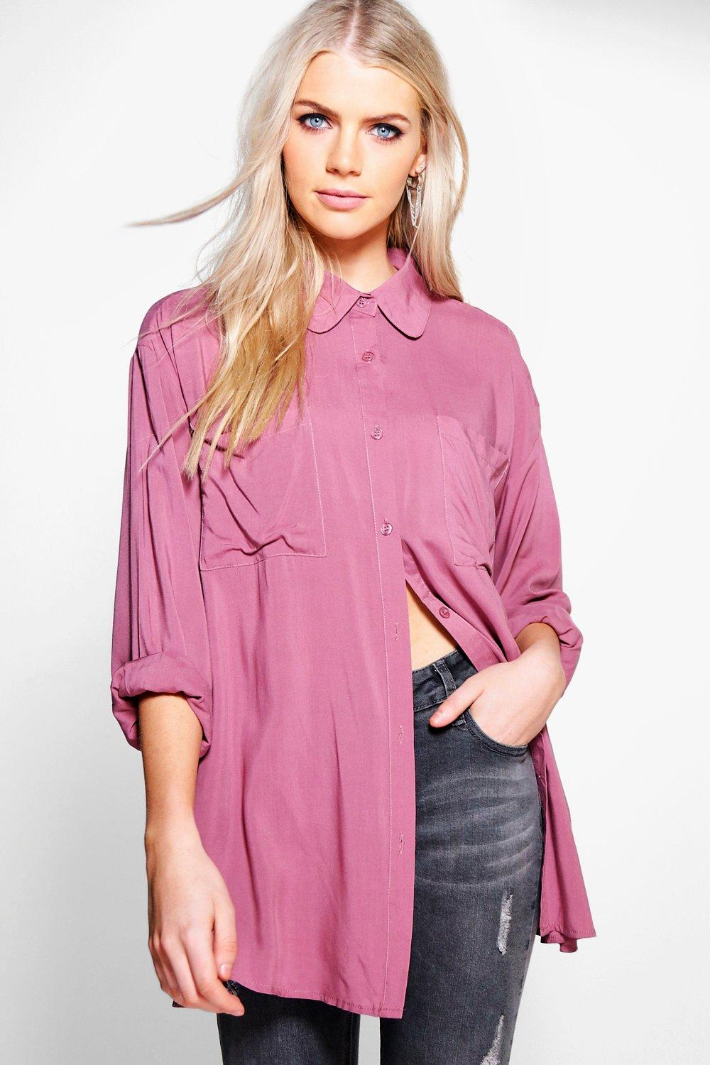 Claire Oversized Viscose Shirt