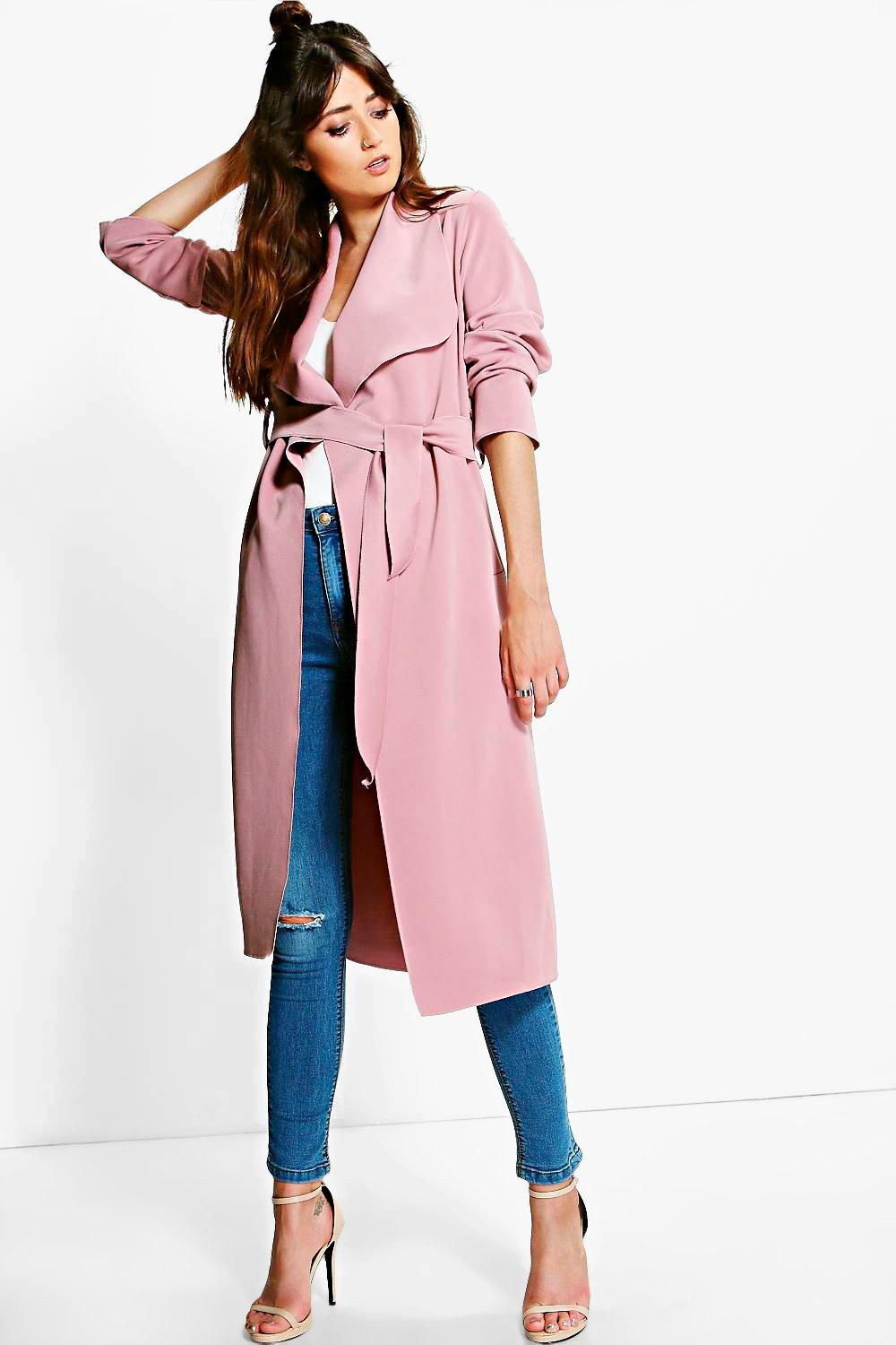Katie Shawl Collar Belted Duster