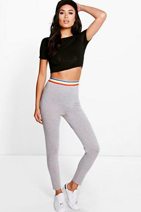 Mali Rainbow Elastic Basic Leggings