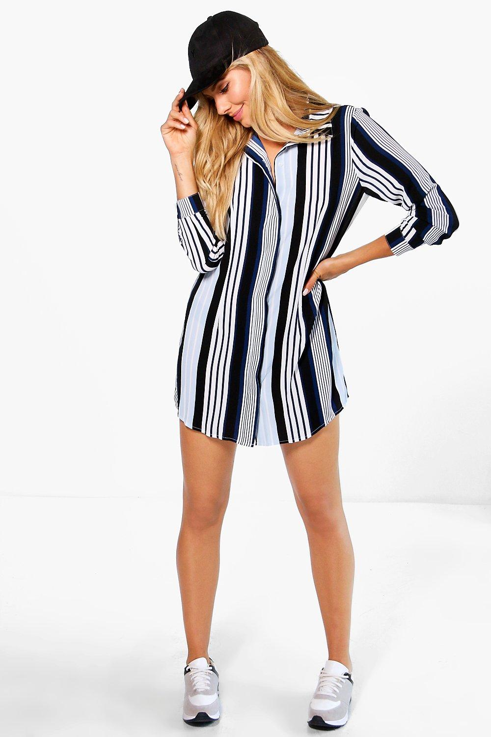 Tammy Stripe Shirt Dress