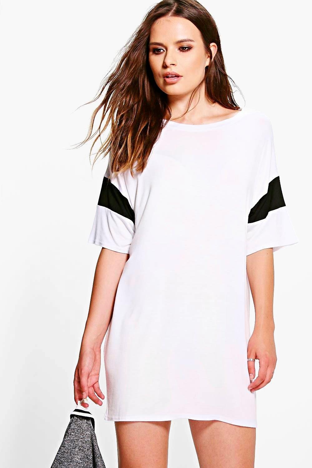 Cora Contrast Band T-Shirt Dress