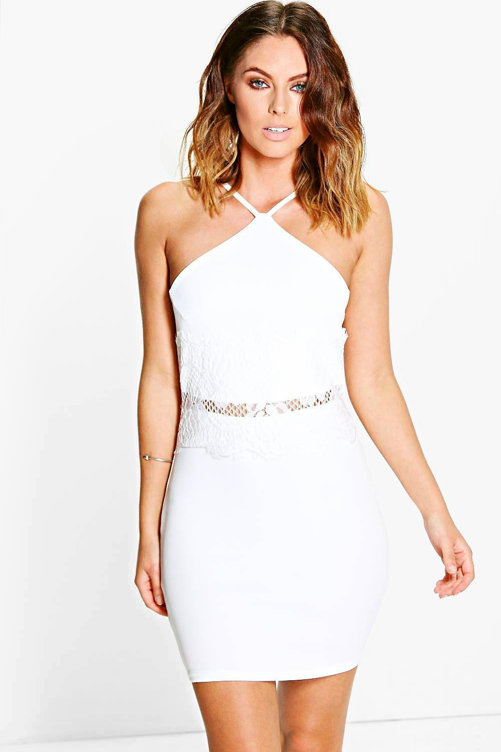 Jess Lace Waist Detail Bodycon Dress