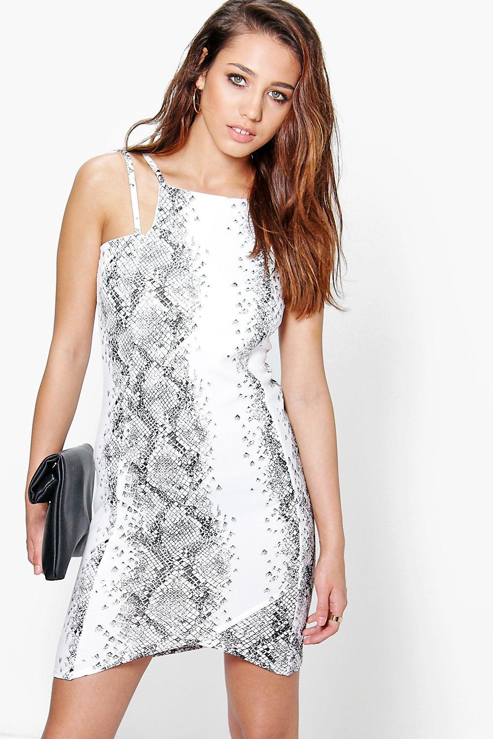 Steph Snake Print Bodycon Dress