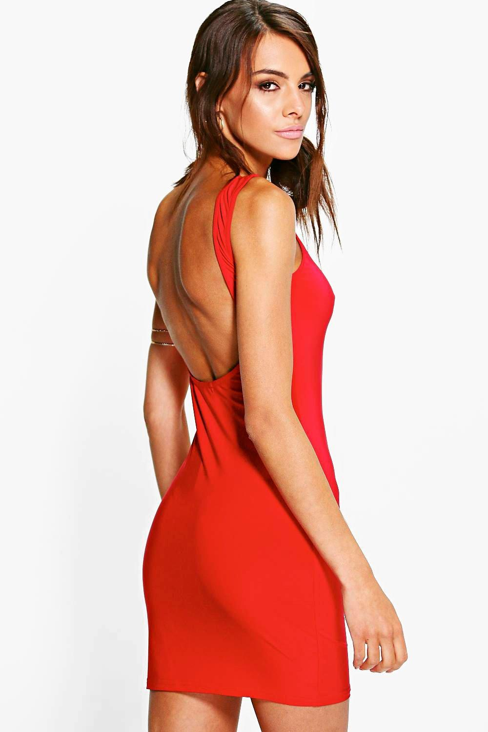 Bryony Slinky Open Back Bodycon Dress