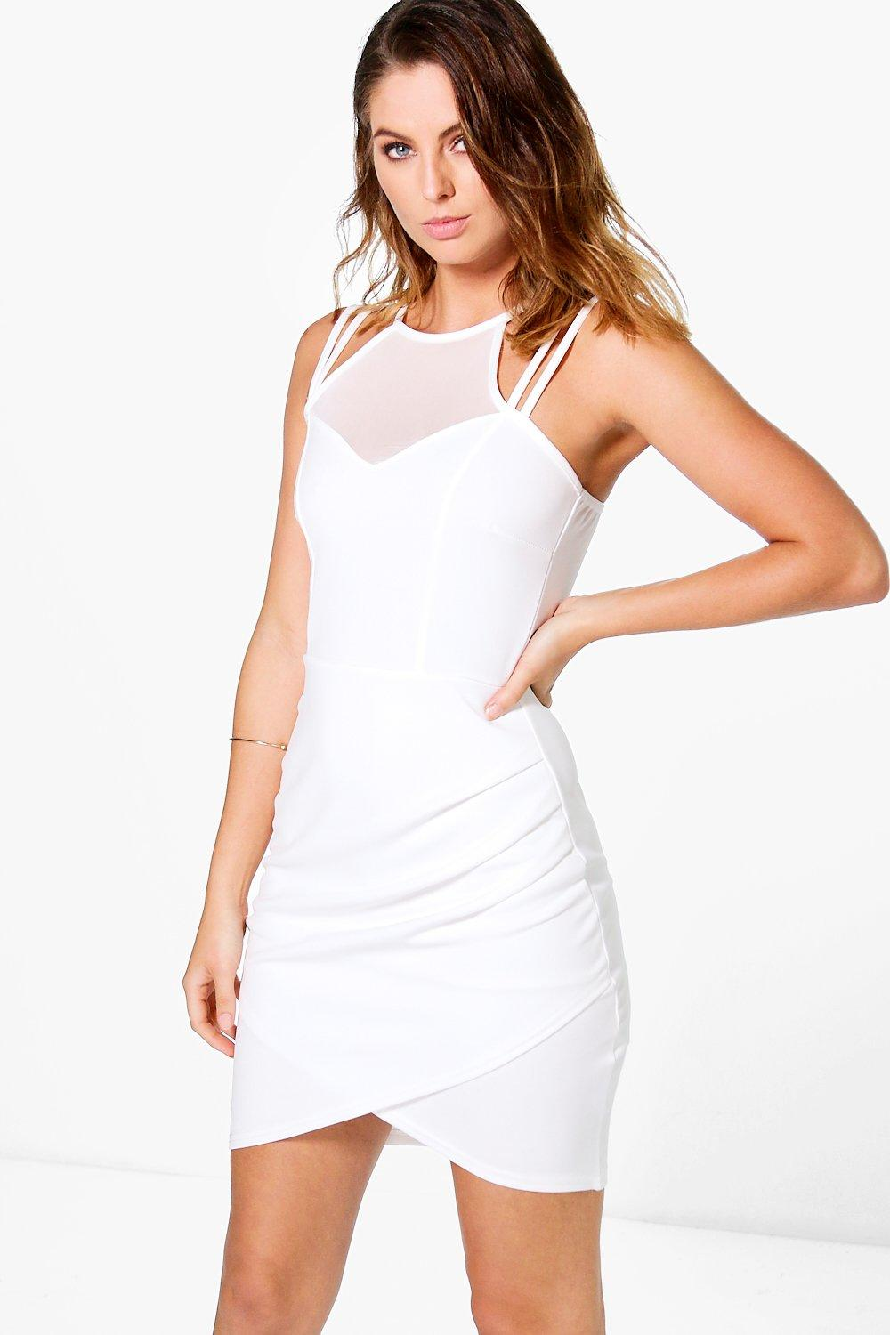 Sophia Strappy Mesh Bodycon Dress