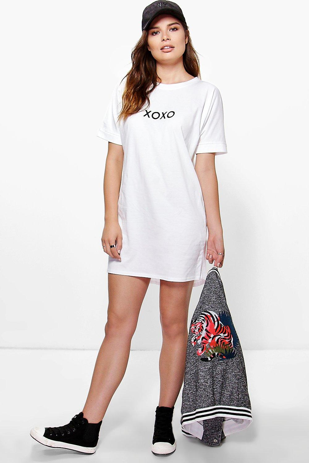 Blair XOXO Slogan T-Shirt Dress