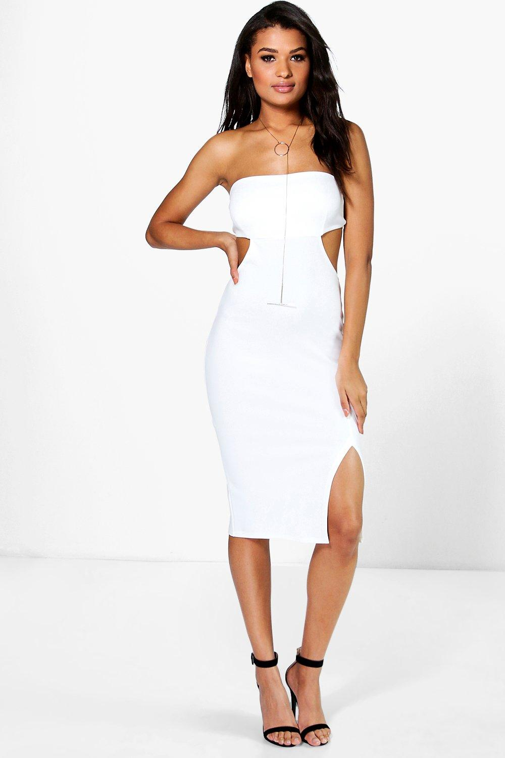 Becky Bandeau Cut Out Detail Midi Dress