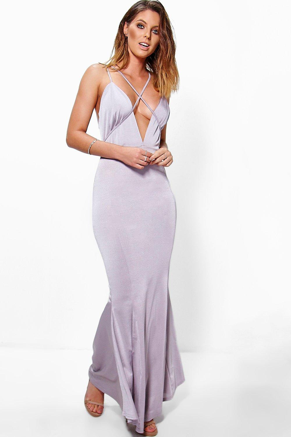 Fiona Strappy Detail Fishtail Maxi Dress