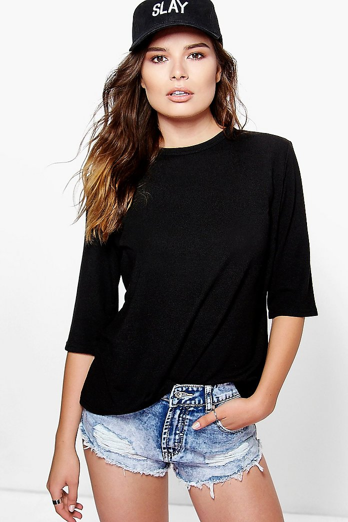 Niamh Textured Fabric Premium T-Shirt
