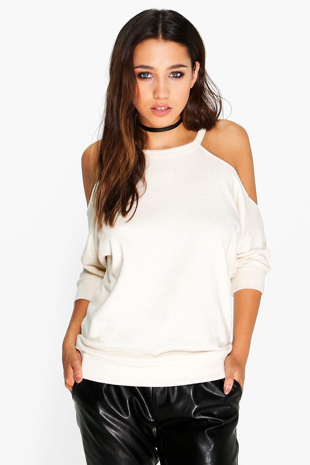 Keira Textured Cold Shoulder Top