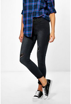 Carly High Rise Distressed Skinny Jeans