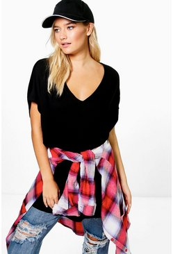 Isobel Oversized V Neck T-Shirt