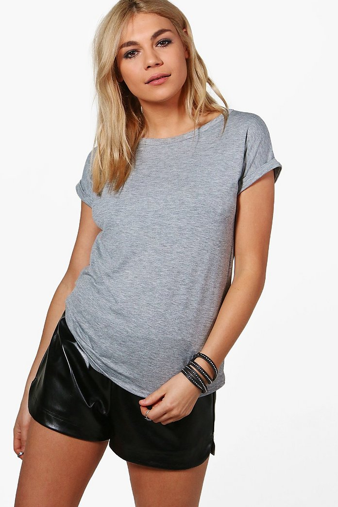 Emma Boxy Turn Cuff T-Shirt