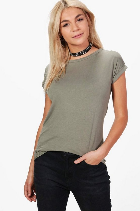 Boxy Turn Cuff T-Shirt