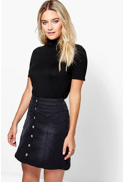 Isla Short Sleeve Turtle Neck Top