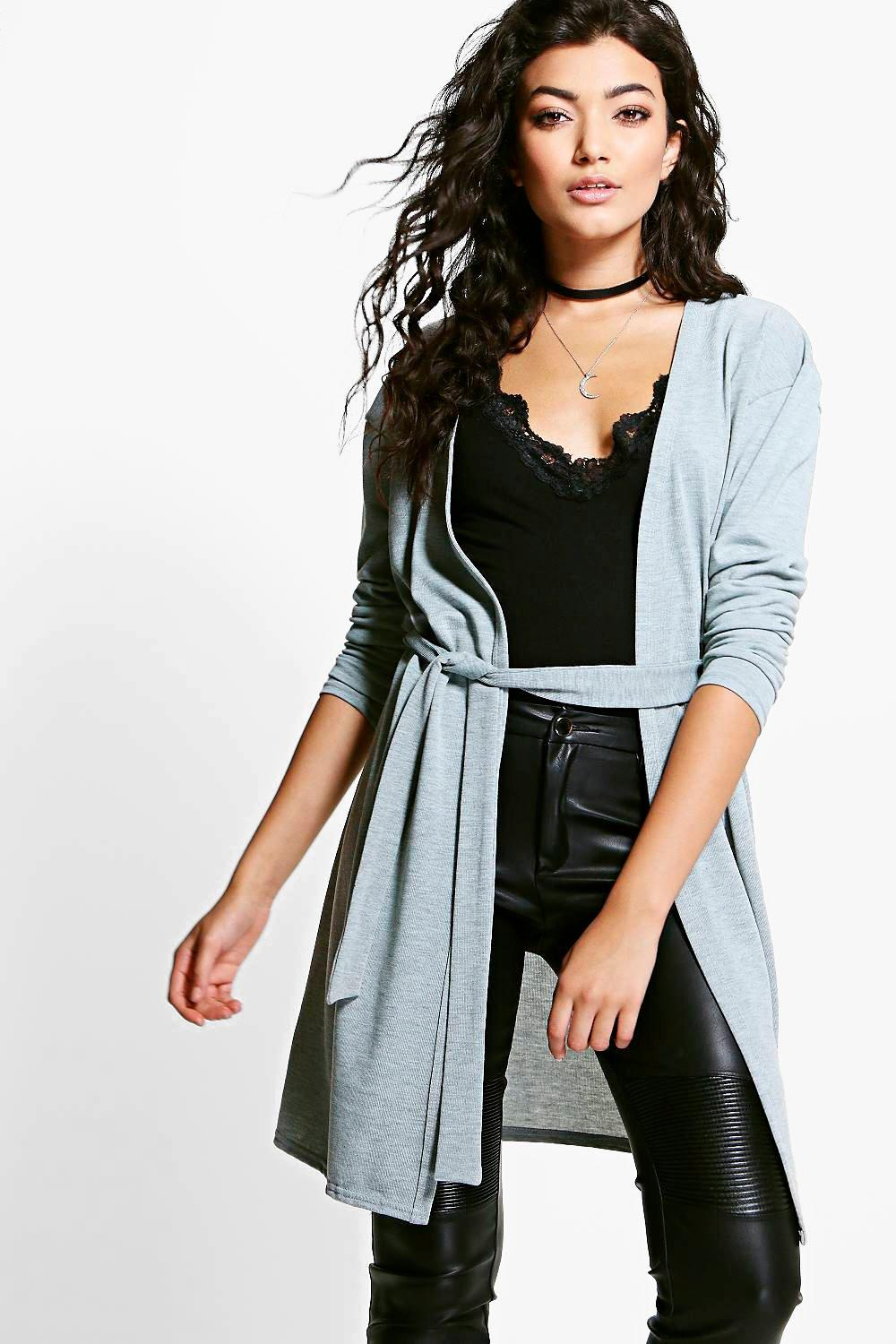 Eloise Belted Edge To Edge Cardigan