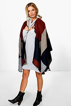 Abigail Colour Block Cape