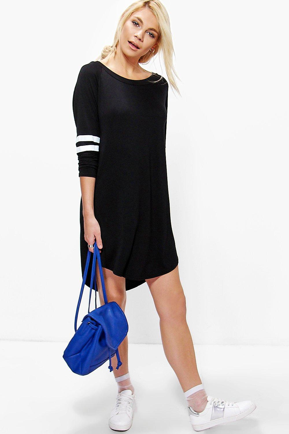 Elisha Long Sleeve Baseball Shift Dress