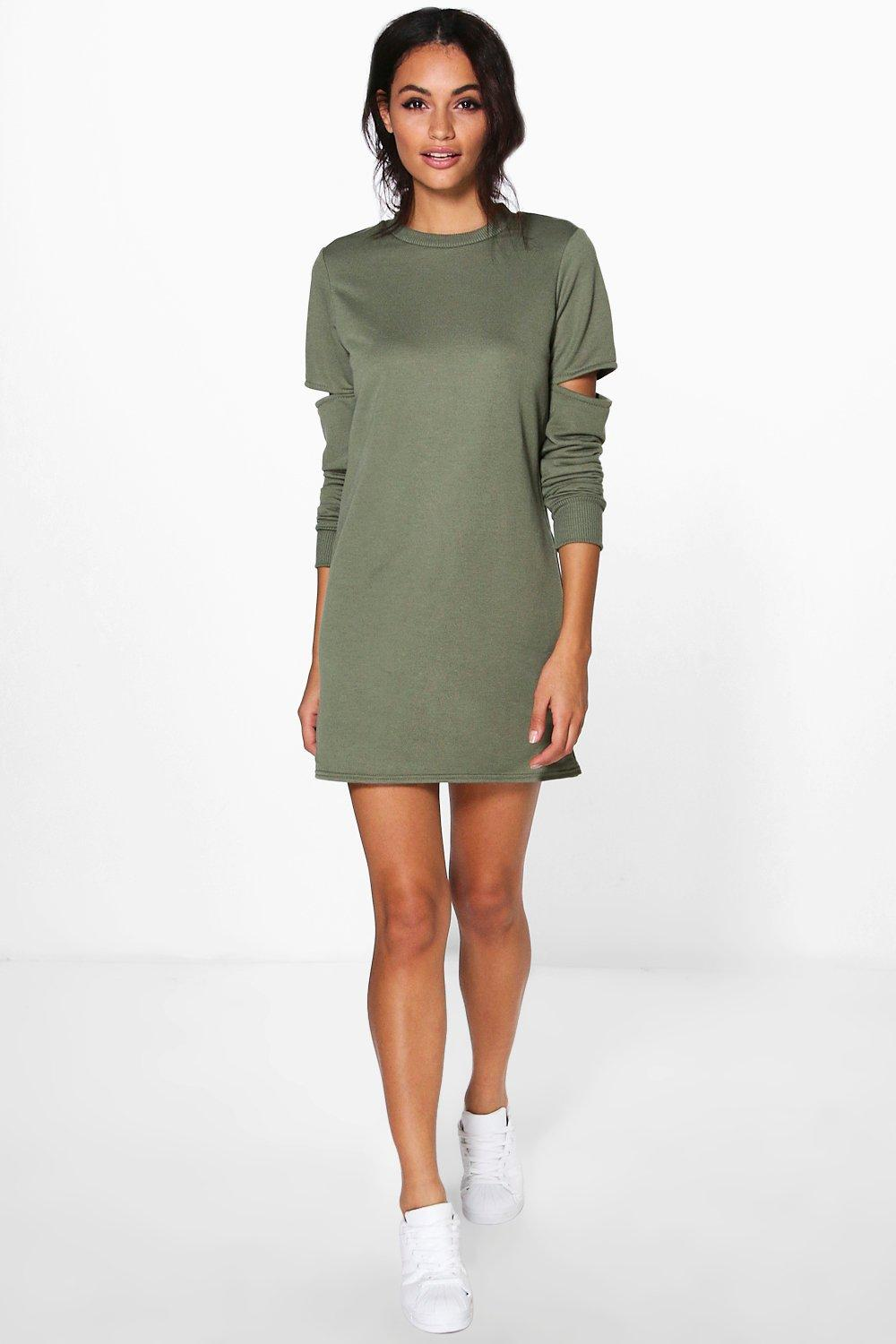 Charly Cut Out Sleeve Sweat Dress