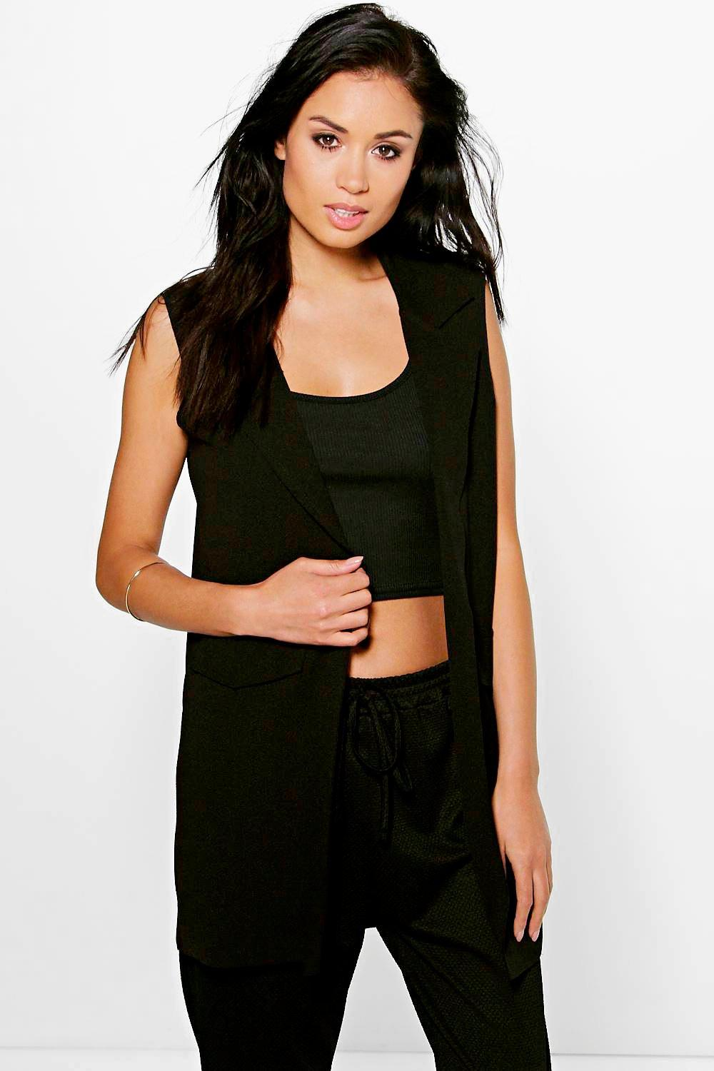 Sleeveless Duster black