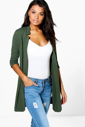 Julia Notch Neck Crepe Duster