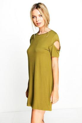 Casey Cold Shoulder Sweat Dress