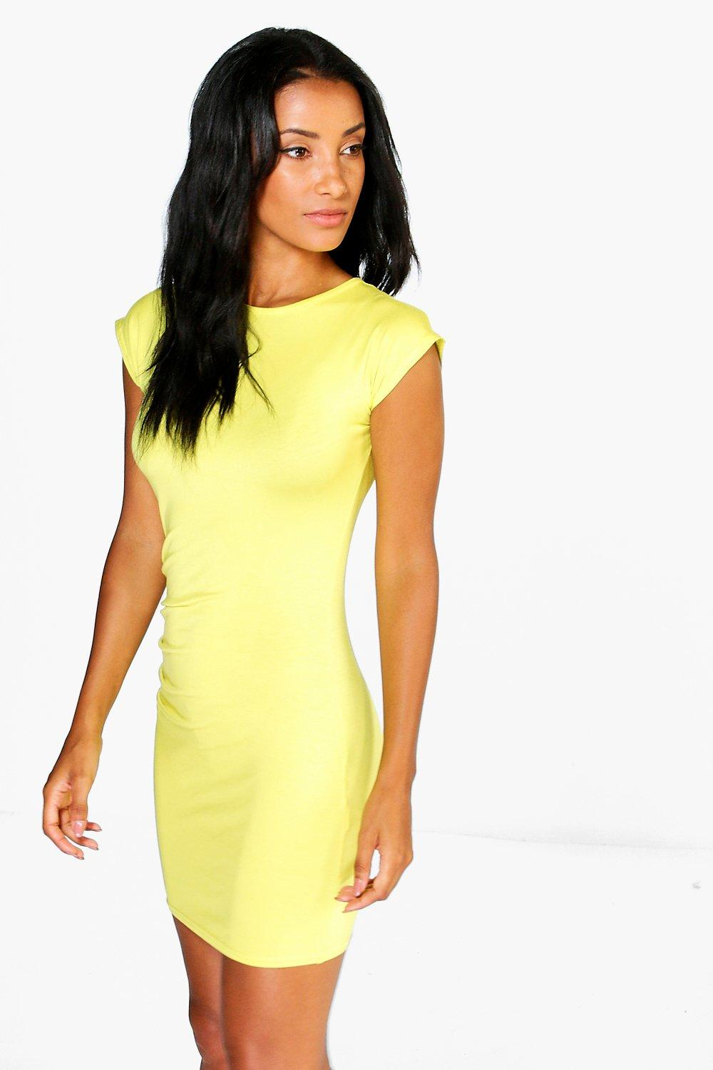 Della Drape Side Bodycon Dress