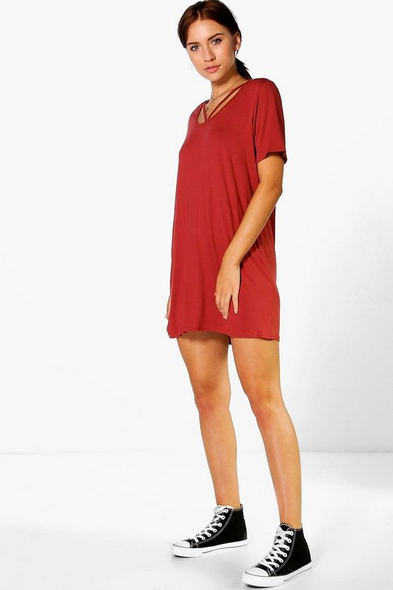 Carmen Strap Detail T-Shirt Dress