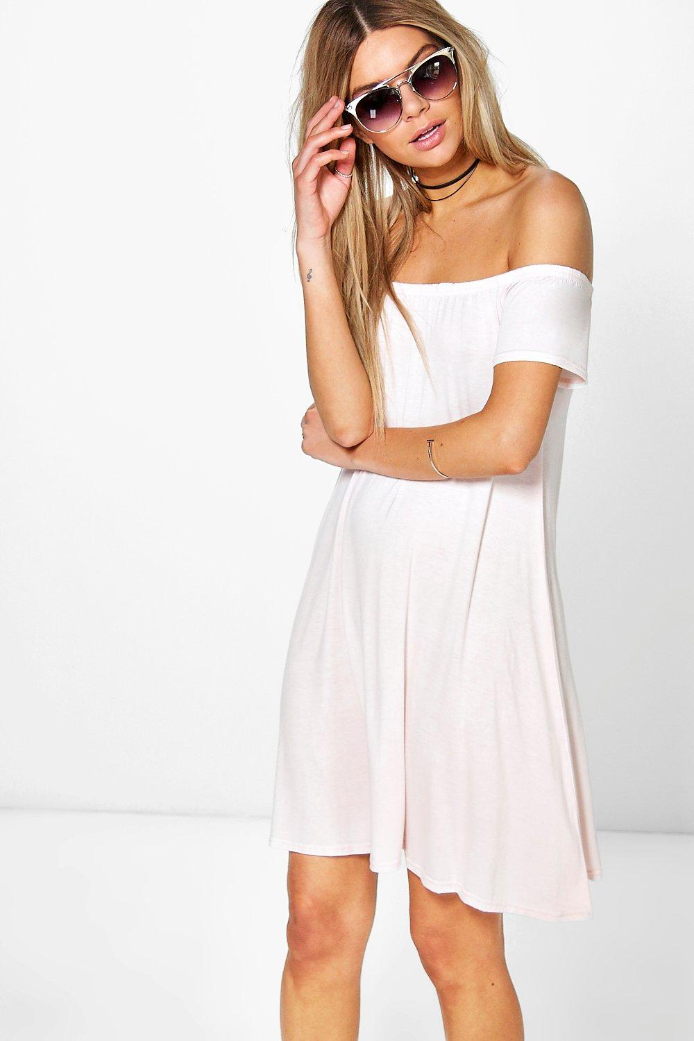 Niamh Off The Shoulder Swing Dress