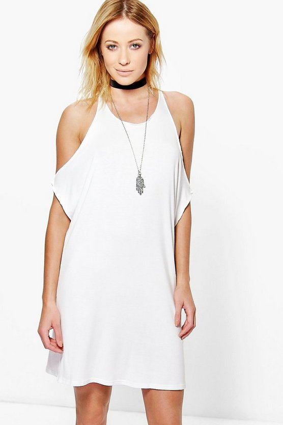 Cassandra Cold Shoulder Detail Shift Dress