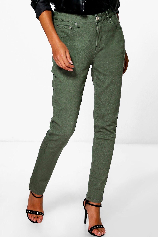 5 Pocket High Rise Skinny Jeans  khaki