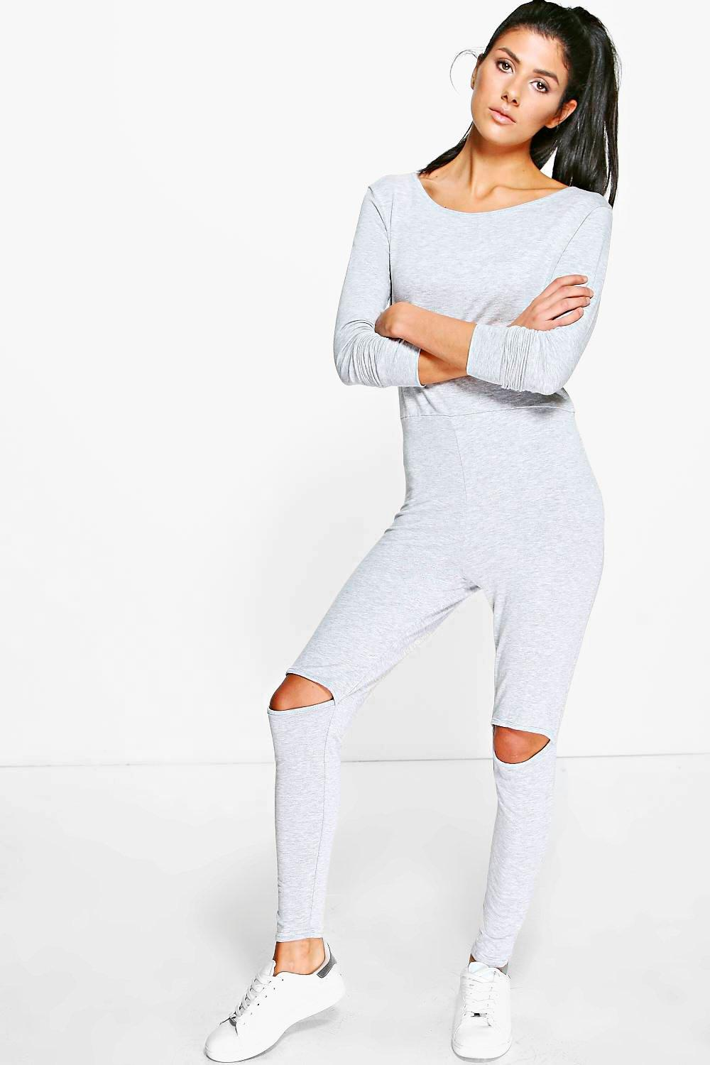 Jenna Casual Split Knee Jogger Style Jumpsuit