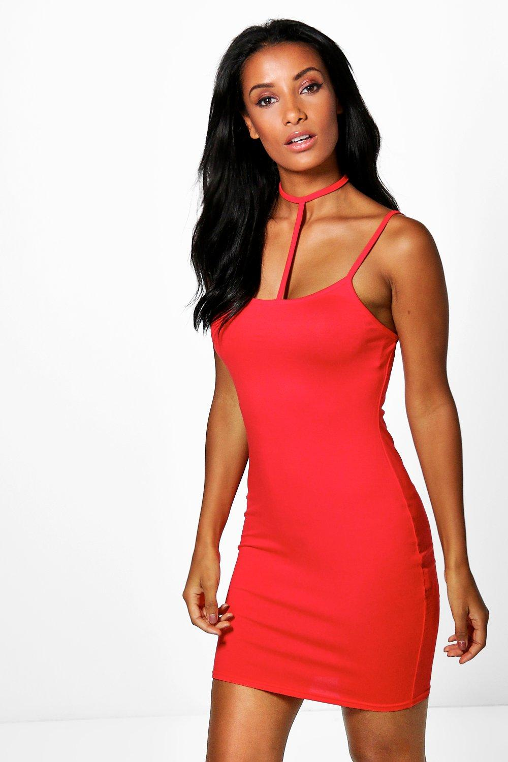 Vaida Choker Strap Bodycon Dress