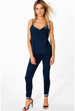 Fina 5-Pocket High Rise Skinny Jeans