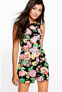 Kirsty Sleeveless Floral Playsuit
