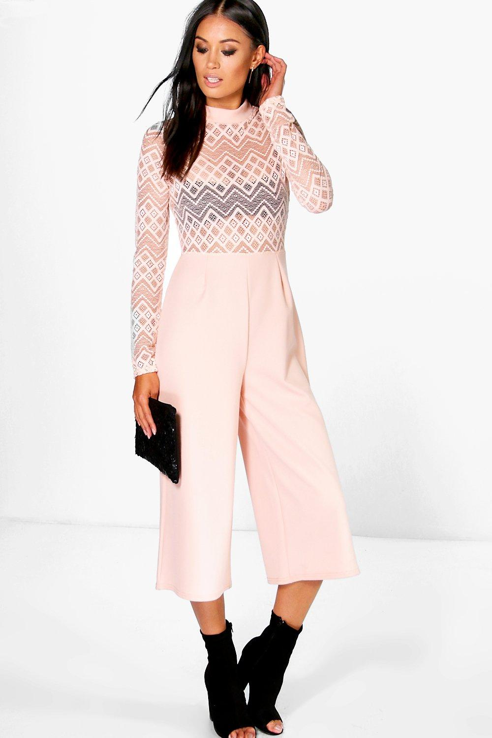 Bella Barely There Lace Culotte Jumpsuit