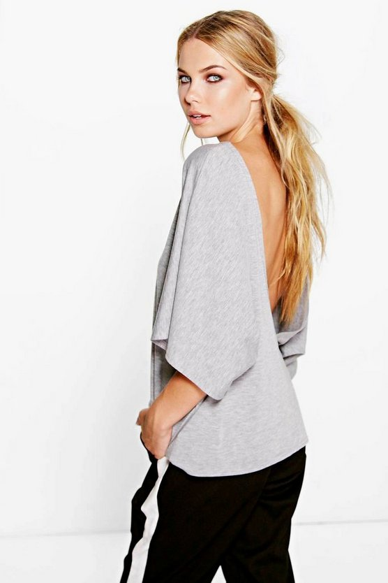 Olivia Deep V Back Oversized T-Shirt
