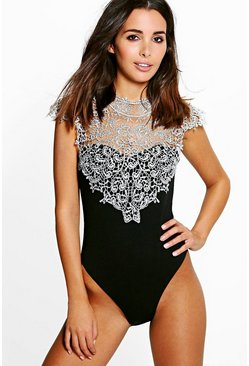 Lucy Crochet Trim Scuba Body
