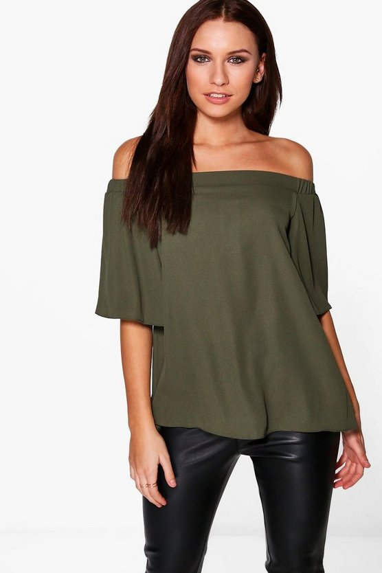 Mia Woven Off The Shoulder Top