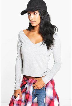 Niamh Extreme Wide V Long Sleeve Top